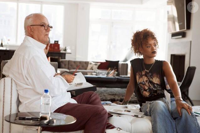 Le créateur Manolo Blahnik et Rihanna.