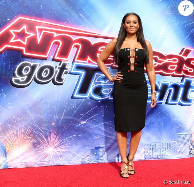 """Melanie Brown lors du Photocall de la saison 11 de l'émission """"America's got Talent"""" à Pasadenas le 3 mars 2016. © Sammi/AdMedia via ZUMA Wire / Bestimage"""