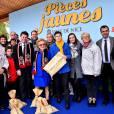 Bernadette Chirac, Conseillère générale de la Corrèze, ex première dame, l'épouse de l'ancien président Jacques Chirac, et Christian Estrosi, député, maire de Nice et président du Conseil Régional de PACA, participent à l'opération des Pièces Jaunes à Nice le 6 février 2016. © Bruno Bebert/Bestimage