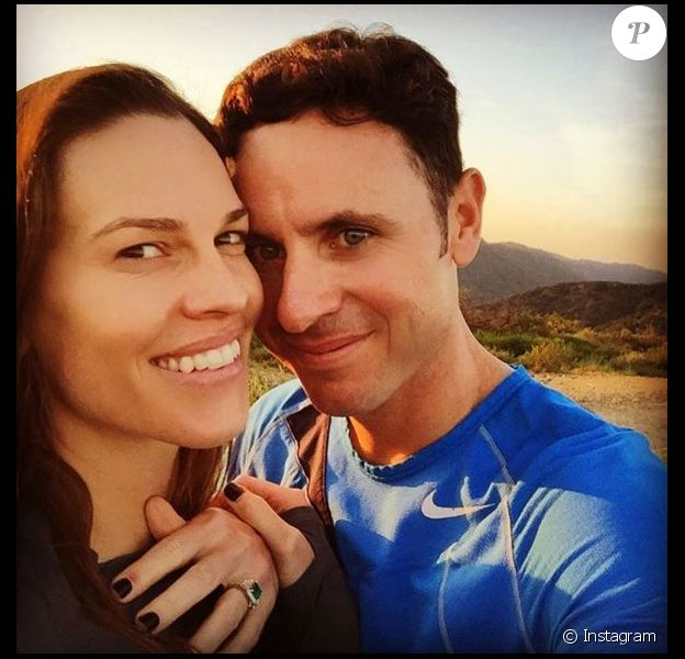 Hilary Swank et son fiancé Ruben sur Instagram, 22 mars 2016