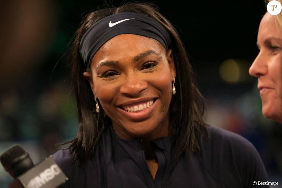 Serena Williams lors du tournoi de tennis BNP Paribas Showdown au Madison Square Garden à New York, le 8 mars 2016.