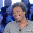 """Le célèbre Doc Gynéco (41 ans) sur le plateau de """"Salut les Terriens !"""" (Canal+) Le 26 mars 2016."""