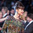 """Sophie Marceau (en Saint Laurent) - Montée des marches du film """"Shan He Gu Ren"""" (Mountains May Depart) lors du 68e Festival International du Film de Cannes le 20 mai 2015"""