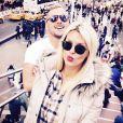 Amélie Neten et son amoureux Philippe en vacances à New York. Octobre 2015.