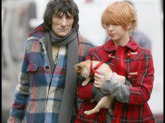 REPORTAGE PHOTOS : Quand Ronnie Wood et sa petite fille... euh non... sa petite amie de 19 ans, filent le parfait amour !!!!