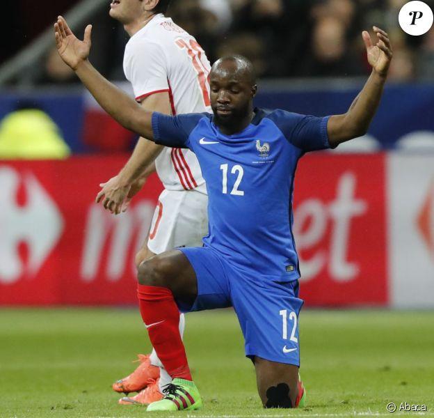 Lassana Diarra lors de France - Russie (4-2) en match amical au Stade de France le 29 mars 2016