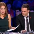 Léa Salamé et Yann Moix dans  On n'est pas couché  sur France 2, le samedi 2 avril 2016.