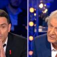 Yann Moix et Patrick Sébastien dans  On n'est pas couché  sur France 2, le samedi 2 avril 2016.