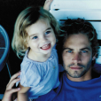 Meadow Walker avec son père Paul Walker - photo publiée le 12 septembre 2015