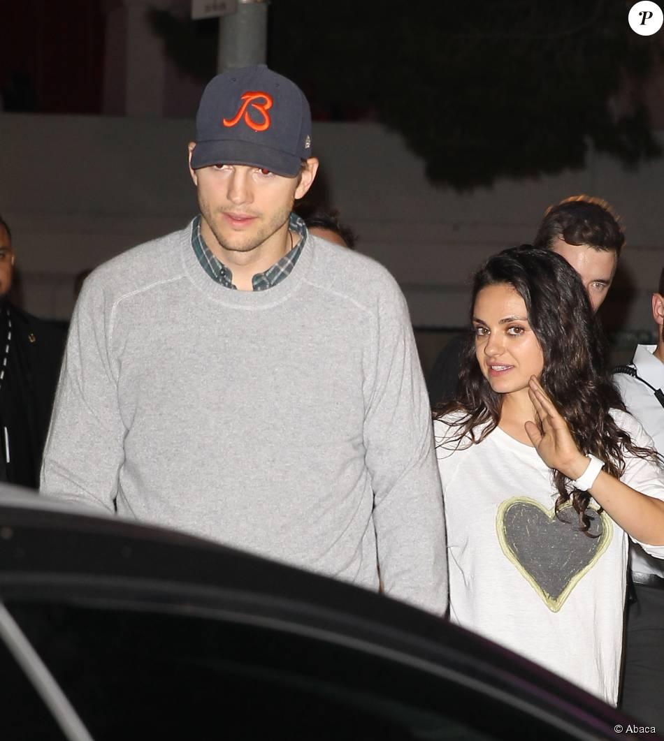 Ashton Kutcher et Mila Kunis - La tournée de Madonna, Rebel Heart Tour, s'est arrêtée au Forum d'Inglewood, Los Angeles, le 27 octobre 2015