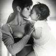 Monica Bellucci avec sa fille (photo postée le 17 avril 2016)