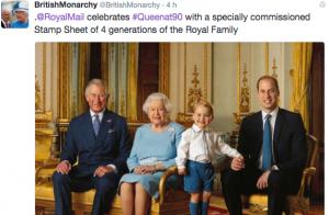 George de Cambridge: So cute, perché aux côtés d'Elizabeth, William et Charles !