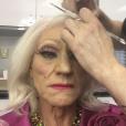Patrick Stewart se transforme en femme pour la promotion d'une série (photo postée le 19 avril 2016)