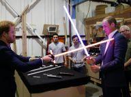 William et Harry : Duel sans merci au sabre laser devant Daisy Ridley