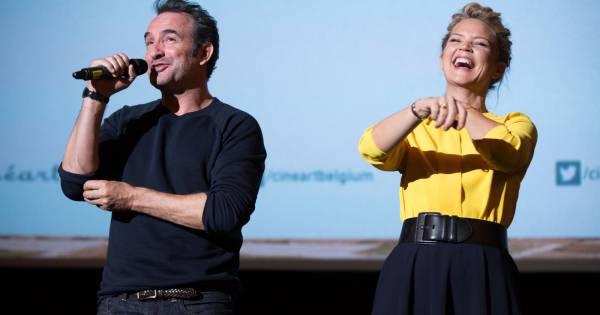 Jean dujardin fait rire virginie efira et le public for Dujardin rire