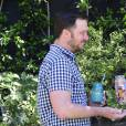 Tiffani Thiessen et son mari Brady Smith à Los Angeles, le 27 mars 2016