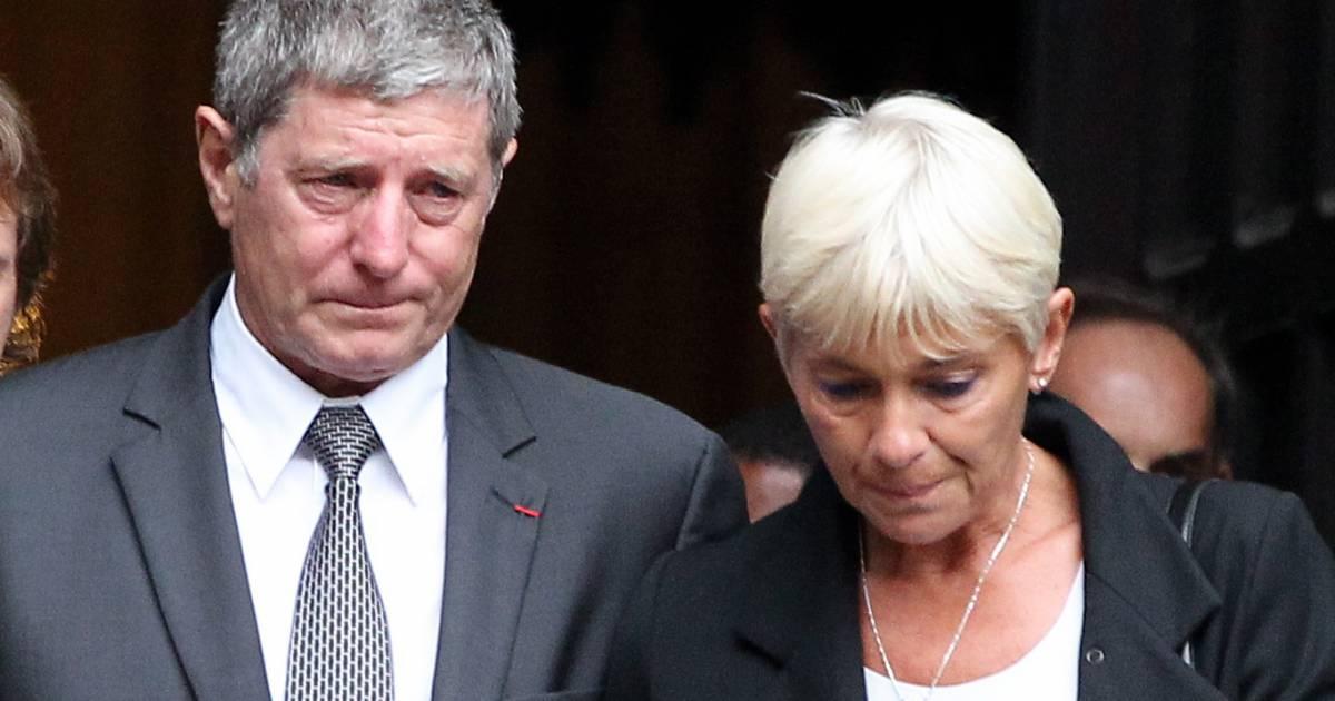 Jean michel larqu et sa femme obs ques de thierry roland en 2012 purepeople - Jean francois balmer et sa femme ...