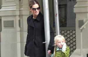 REPORTAGE PHOTOS EXCLUSIVES : Pour Sandra Bullock, le bonheur, c'est simple comme un petit tour avec sa belle-fille !