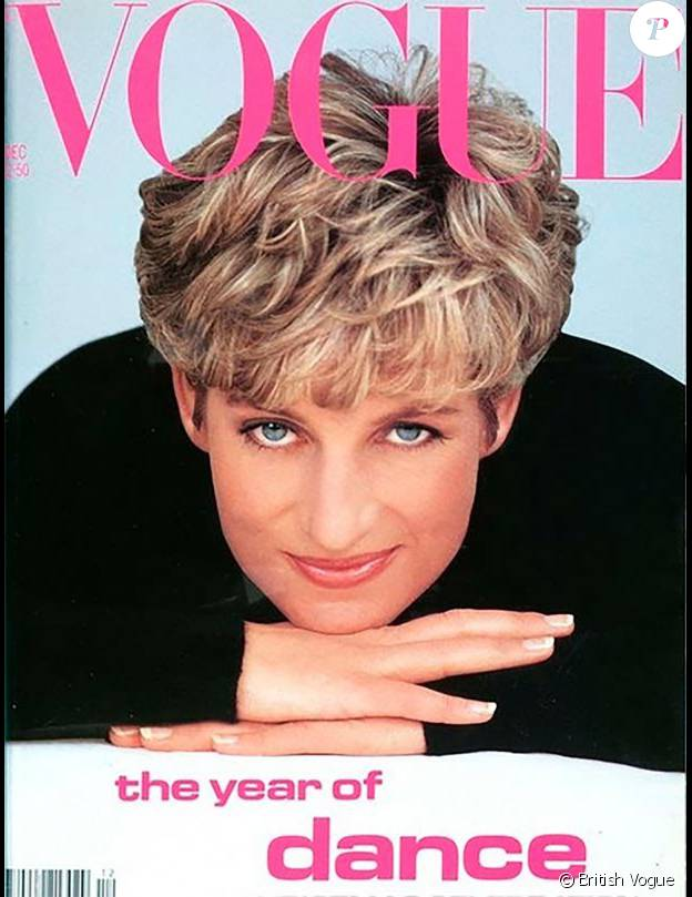 """Lady Di en couverture du magazine """"Vogue UK"""" en 1991"""