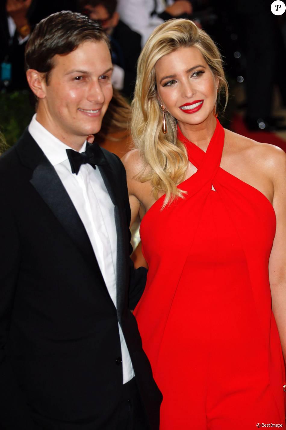 Jared Kushner et sa femme Ivanka Trump , Met Gala 2016, vernissage de lexposition Manus x Machina au Metropolitan Museum of Art. New York, le 2 mai 2016.
