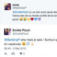 Emilie Picch (Mad Mag) victime de menaces sur Twitter