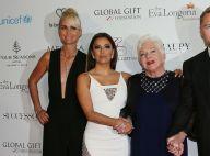 Eva Longoria : Sublime pour honorer Laeticia Hallyday et Line Renaud à Paris