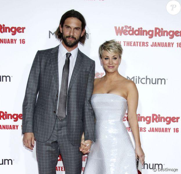 """Kaley Cuoco et son mari Ryan Sweeting - People à la première du film """"Témoin à louer"""" à Hollywood. Le 6 janvier 2015"""