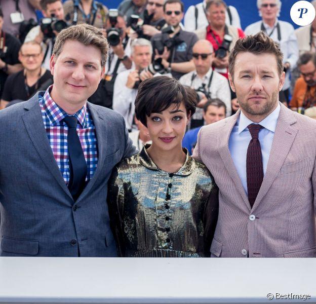 "Jeff Nichols, Ruth Negga, Joel Edgerton - Photocall du film ""Loving"" lors du 69ème Festival International du Film de Cannes le 16 mai 2016. © Borde-Moreau/Bestimage"
