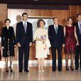 Elena, Letizia, Felipe, Sofia, Juan Carlos, Cristina, Iñaki