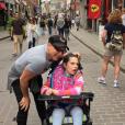 Jean-Marc Généreux et sa fille Francesca en vacances. Août 2015.