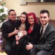 Jean-Marc Généreux aux côtés de sa femme et de ses enfants pour les fêtes de fin d'année en 2015.