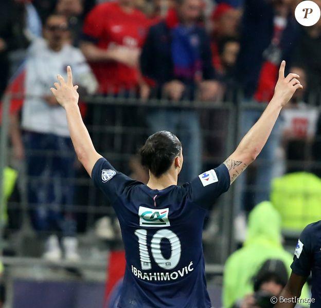 Zlatan Ibrahimovic - Finale de la coupe de France de football (PSG / OM) au Stade de France le 21 mai 2016. C'était le dernier match de Zlatan Ibrahimovic avec le maillot du PSG. Le PSG remporte le match 4 à 2.