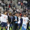Kevin Trapp, Zlatan Ibrahimovic, Javier Pastore, Angel Di Maria - Finale de la coupe de France de football (PSG / OM) au Stade de France le 21 mai 2016. C'était le dernier match de Zlatan Ibrahimovic avec le maillot du PSG. Le PSG remporte le match 4 à 2.