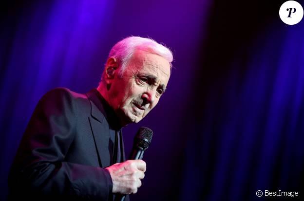 Charles Aznavour au Palais des Sports à Paris le 15 septembre 2015.