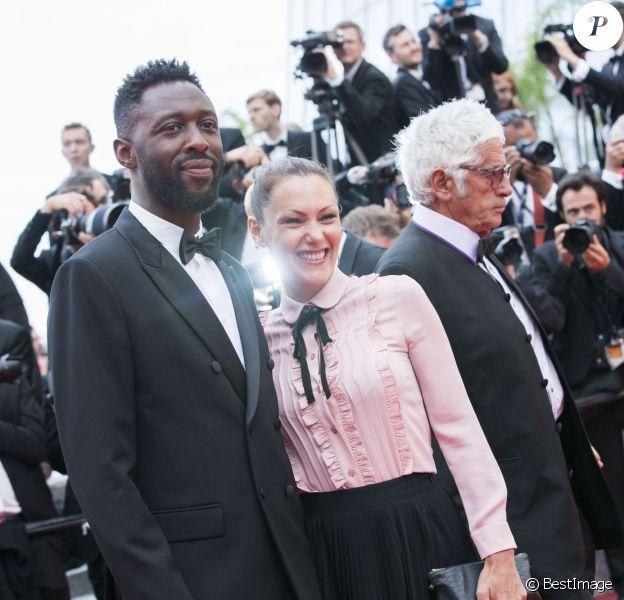 Thomas Ngijol et sa compagne Karole Rocher - Montée des marches de la cérémonie de clôture du 69ème Festival International du Film de Cannes. Le 22 mai 2016. © Olivier Borde-Cyril Moreau/Bestimage