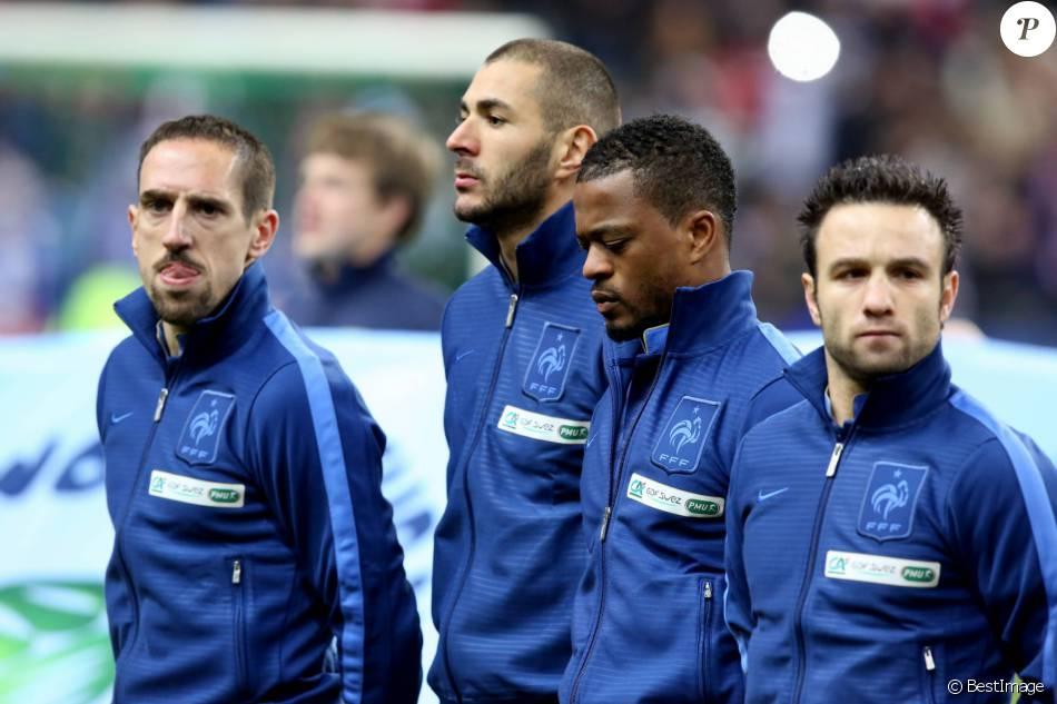 Franck ribery karim benzema patrice evra et mathieu - Prochaine coupe du monde de football ...