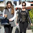 "Maria Shriver et sa fille Christina Schwarzenegger sortent du restaurant ""Tavern"" à Brentwood, le 5 fevrier 2014."