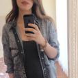 Sara Carbonero, enceinte et avec son alliance bien visible, sur Instagram le 25 avril 2016.