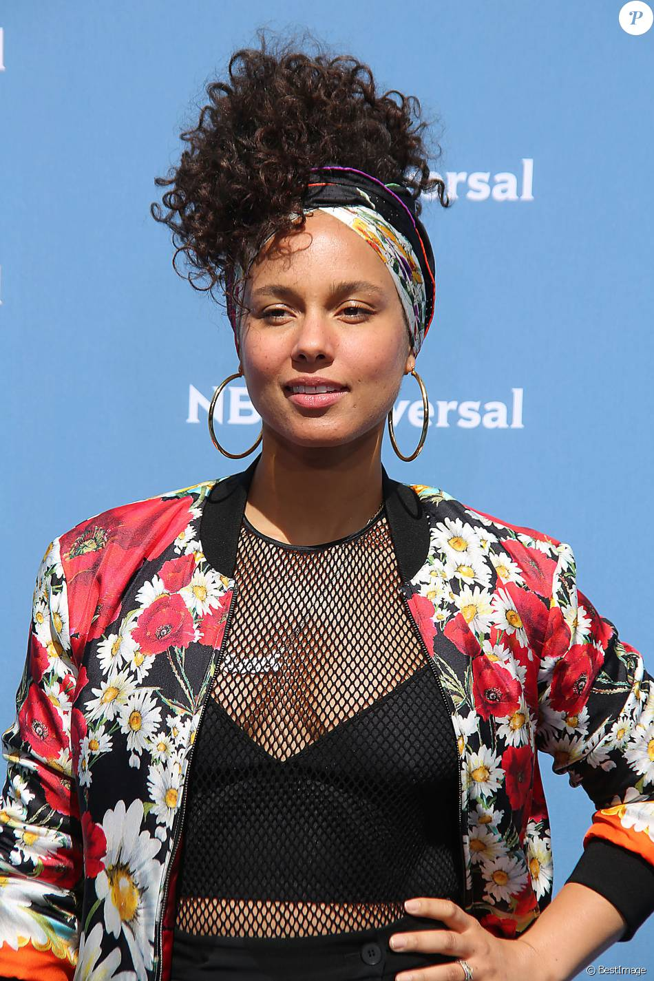 "Alicia Keys au photocall de l'événement ""NBC Universal Upfront"" au Rockfeller Center à New York le 16 mai 2016. © Sonia Moskowitz/Globe Photos via ZUMA Wire / Bestimage"