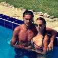Vanessa Lawrens et Julien Guirado à la piscine, sur Instagram