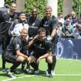 Marco Materazzi, Diego Maradona, Clarence Seedorf, Angelo Peruzzi, David Trezeguet et Ciro Ferrara - Pelé et Diego Maradona s'affrontent lors d'un match de football amical au Palais Royal à Paris le 9 juin 2016.