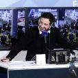 Cyril Hanouna sur le plateau de la radio Europe 1 en direct du Salon International de l'Agriculture à Paris le 1er mars 2015. © Stéphane Lemouton / Bestimage