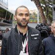 Tony Parker - 74ème Grand Prix de Formule 1 de Monaco, le 29 mai 2016. C'est Lewis Hamilton qui a terminé premier devant D.Ricciardo et S.Perez.