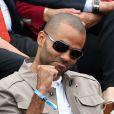 Tony Parker - People dans les tribunes de Roland Garros le 26 mai 2016. © Dominique Jacovides / Bestimage