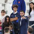 André-Pierre Gignac et sa compagne au match de l'Euro 2016 France-Albanie au Stade Vélodrome à Marseille, le 15 juin 2016. © Cyril Moreau/Bestimage