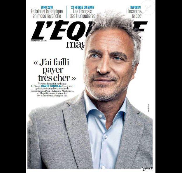 L'Equipe magazine du 18 juin 2016 avec David Ginola