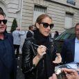 Céline Dion de retour à son hôtel après une séance photo avec le photographe Gilles Bensimon à Paris le 17 juin 2016