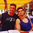 "Pascal de ""Koh-Lanta 2016"" pose avec son fils. Juin 2016."