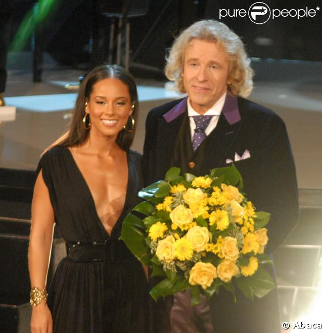 Alicia Keys et Thomas Gottschalk