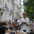 Céline Dion à son hôtel, Le Royal Monceau, à Paris le 25 juin 2016